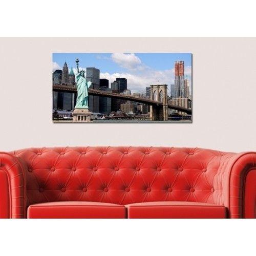 New York Szabadságszobor falikép, fekvő kép