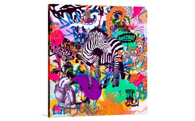 GRAFFITI ZEBRA [32659198] - $379.00 | United Artworks | Original art for interior design, buy original paintings online