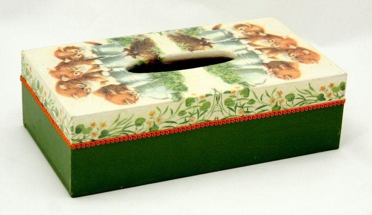 Pudełko na chusteczki Koty