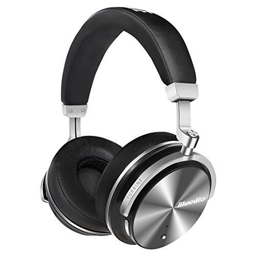 "Bluedio T4S (Turbine) Active Noise Cancelling Over ear Swiveling Wireless Bluetooth Headphones with Mic (Black)"" #Bluedio #(Turbine) #Active #Noise #Cancelling #Over #Swiveling #Wireless #Bluetooth #Headphones #with #(Black)"""