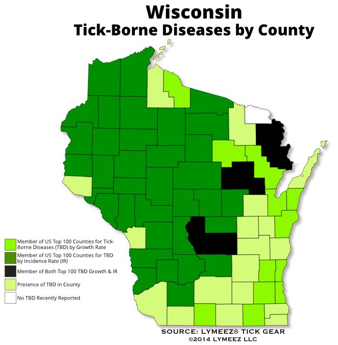 Best Tick Maps US States Canadian Provinces Images On - Tick us map
