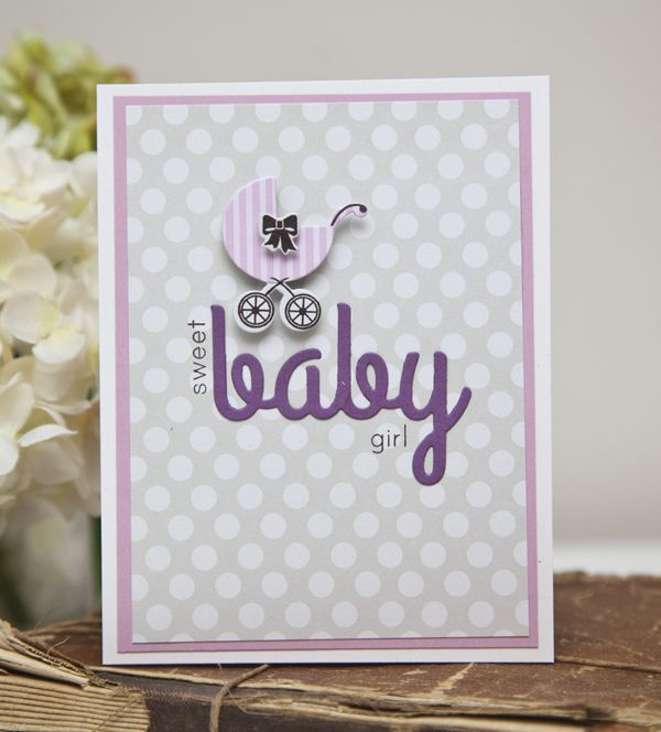Sweet Baby Girl Card by Ashley Cannon Newell for Papertrey Ink (May 2013)