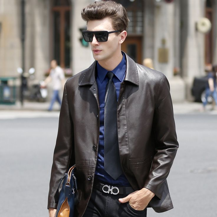 Men Leather Jacket PU Leather Man Jackets Fashion Leather Coat 2016 New Arrival City Leather Coat