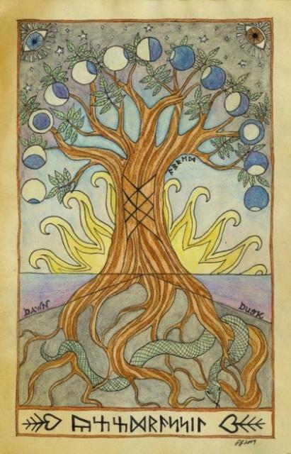 Moon phase Tree of Life