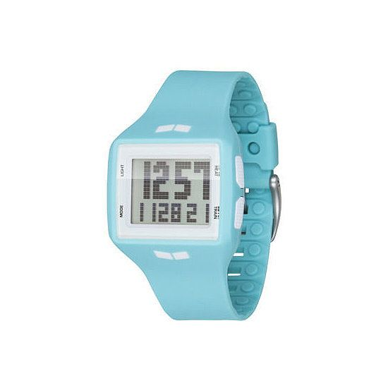 Vestal Watch : Designed to be used both in and out of the water, this blue Vestal Helm Surf and Tra watch ($100) has a special training function and countdown mode that can be used for several workouts and competitions like triathlons.