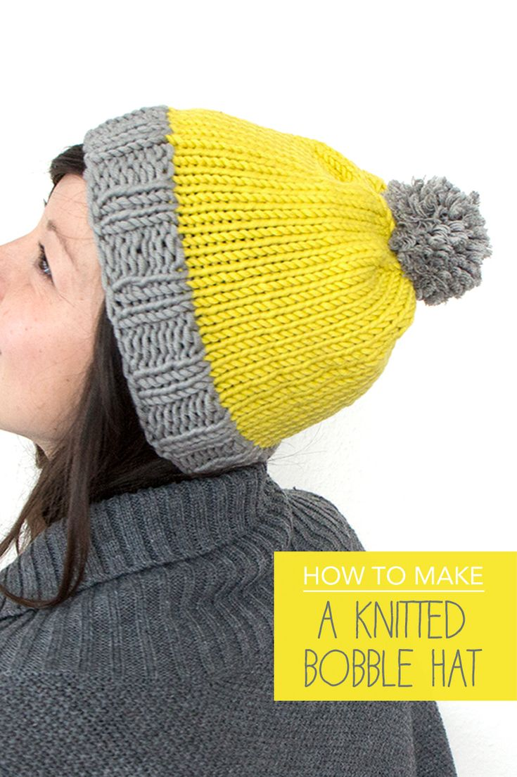 Free knitting tutorial: How to make a bobble hat Mollie Makes Knitting ...