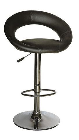 "Entrepreneur Bar Stool  Features:  Adjustable Height Chrome Base 18""x21"" and adjustable 24"" to 29"" high"