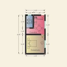 Resultado de imagen para planos de 1 dormitorio