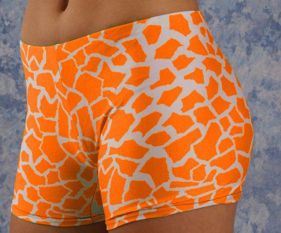 Giraffe Shorts Vollyball Spendex Shorts for Women by nanmadetoo
