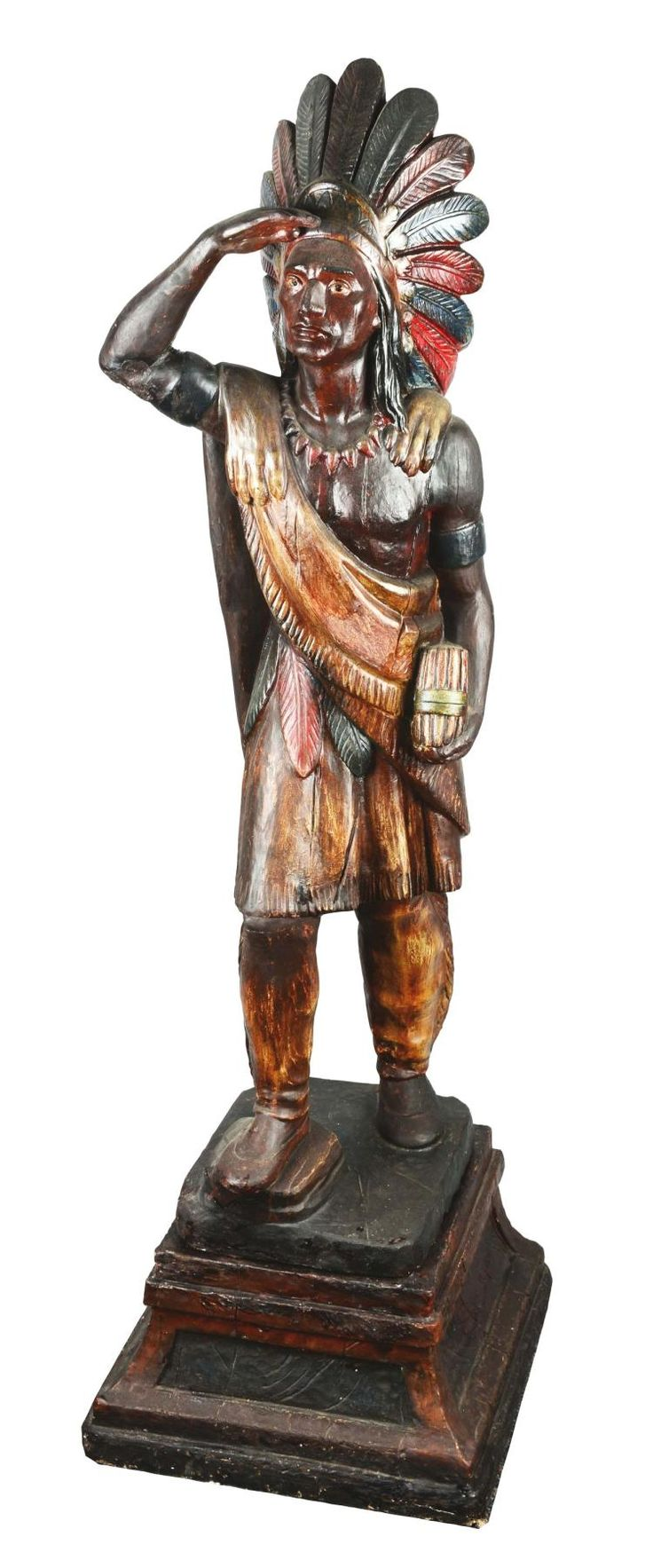 Buy online, view images and see past prices for RARE CARVED AND PAINTED PINE SMALL 'CIGAR STORE INDIAN', PROBABLY SAMUEL ROBB (1851-1928), NEW YORK, CIRCA 1880 |. Invaluable is the world's largest marketplace for art, antiques, and collectibles.