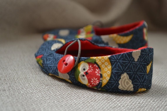 Newborn Owl Jack and Jill Loafer Baby Slippers by LittlePort, $20.00