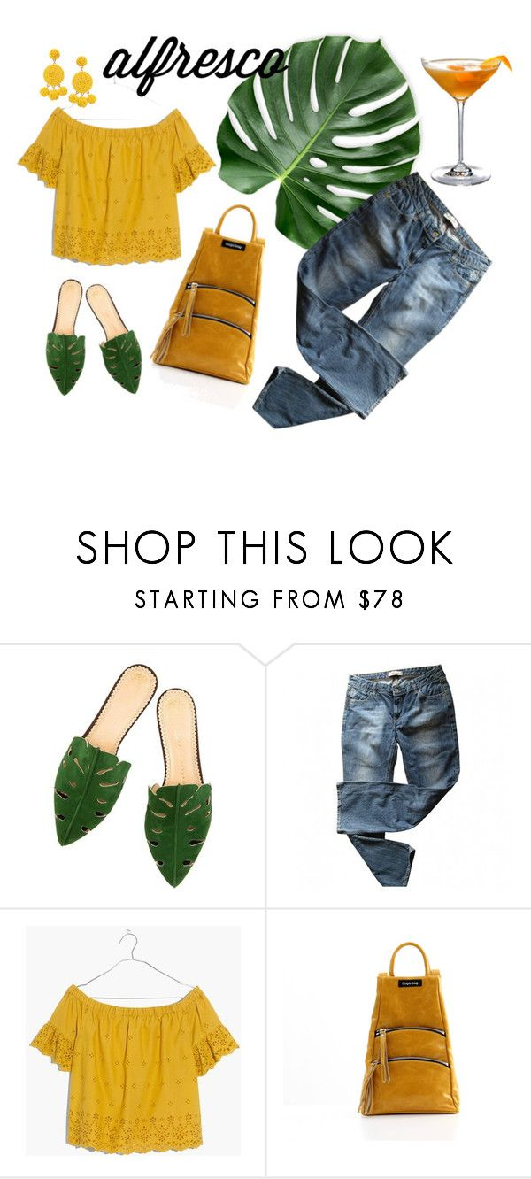 """""""date at night"""" by bogabag on Polyvore featuring Levi's, Madewell and Humble Chic, Bogabag  orange leather backpack"""