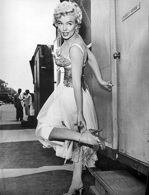 Marilyn Monroe during the filming of There's No Business Like Show Business in 1954