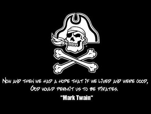 Obviously Mark Twain was an ECU fan too.