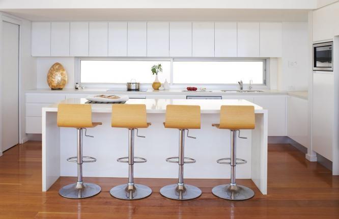 Splashback window in kitchen