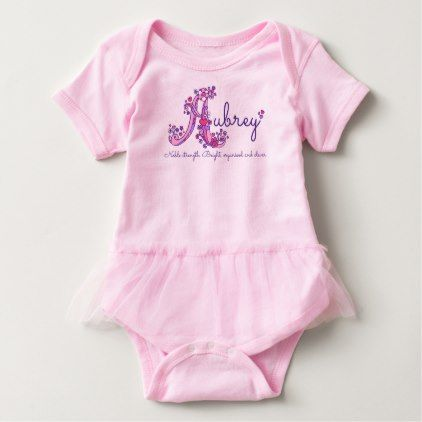 Aubrey girls name & meaning A monogram romper - monogram gifts unique design style monogrammed diy cyo customize
