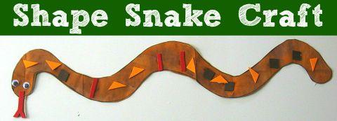 Fun shape craft for little kids.