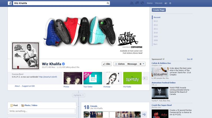 Wiz Khalifa using Facebook's cover picture to promote his collaboration shoes that he did Converse. Again, seeing that he have a lot of likes on his Facebook page he can create an awareness to a lot of people by doing this. #MRK634 #WizKhalifa #Socialinfluence