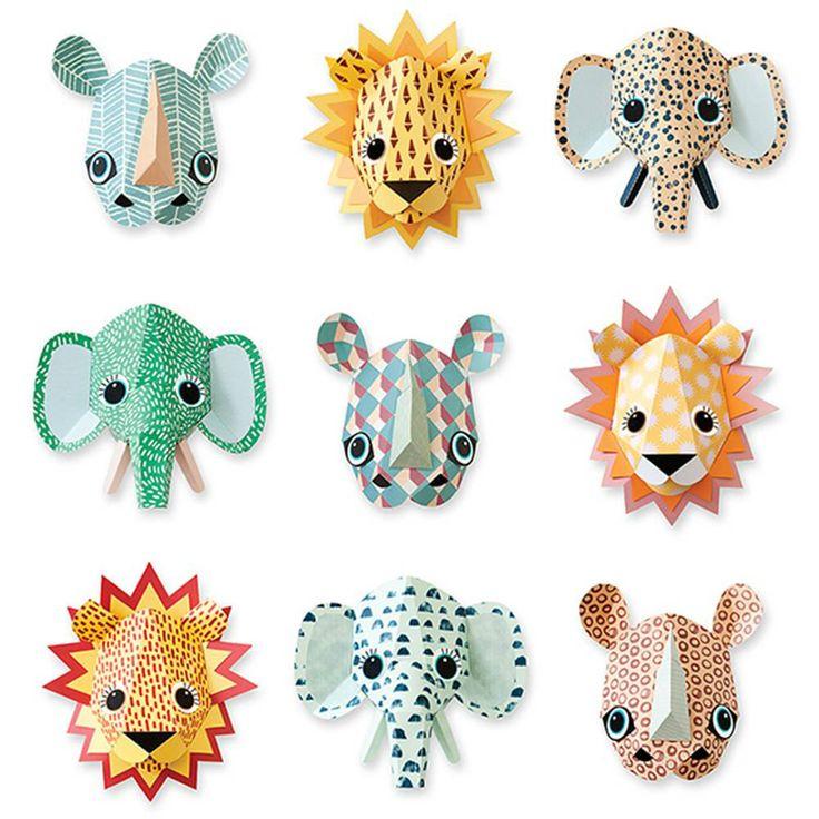 tienda online telas & papel | animales salvajes de papel