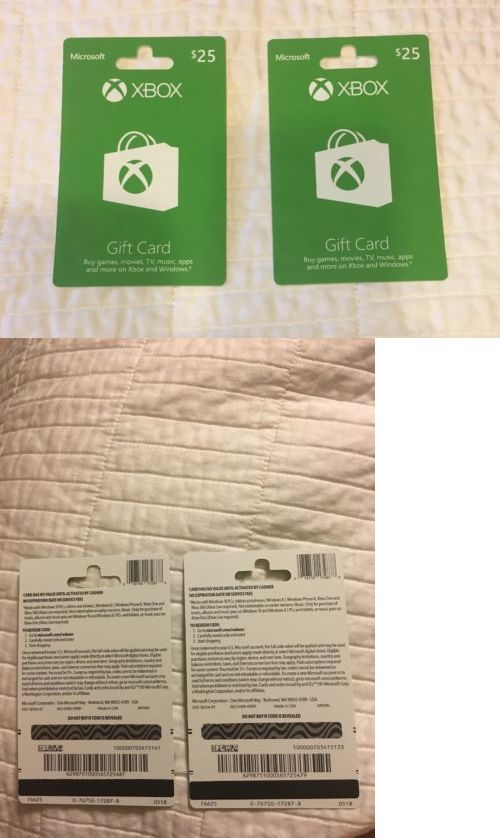 Prepaid Gaming Cards 156597: Xbox Two 25$ Gift Cards -> BUY