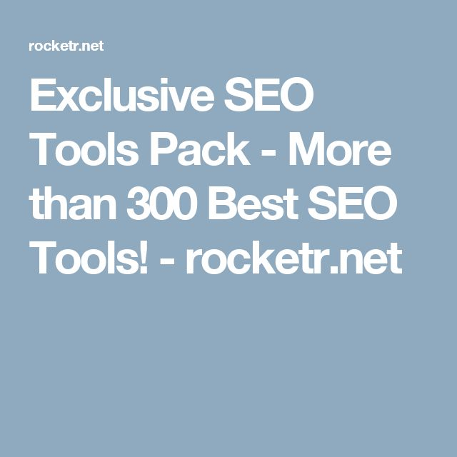 Exclusive SEO Tools Pack - More than 300 Best SEO Tools! - rocketr.net