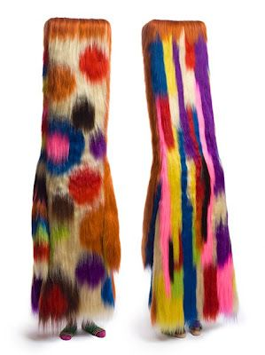 Nick Cave (born 1959 in Fulton, Missouri, USA) is an American fabric sculptor, dancer, and performance artist. He is best known for his Soundsuits: wearable fabric sculptures that are bright, whimsical, and other-worldly.