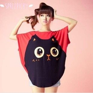 "Free Worldwide Shipping  SKU:SP140583  Material: Cotton  Color: Black, Red  One Size:  Bust 130cm/51.09""  Length 78cm/30.65"""