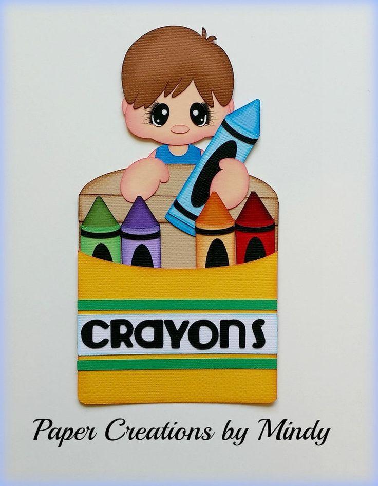 Craftecafe Mindy Boy School premade paper piecing for scrapbook page album