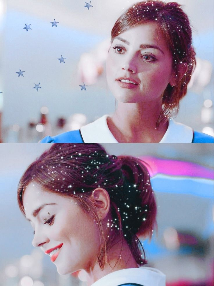 Clara oswald, with the stars in her eyes and snow in her hair.