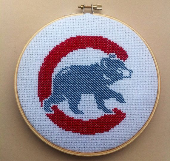 Chicago Cubs Cross Stitch Pattern Instant PDF by DuctTapeStitches
