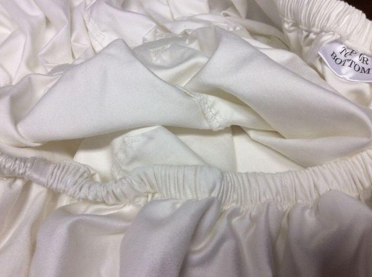 Fieldcrest Queen Modern Mattress Fitted Sheet Extra Deep Off White A India | eBay