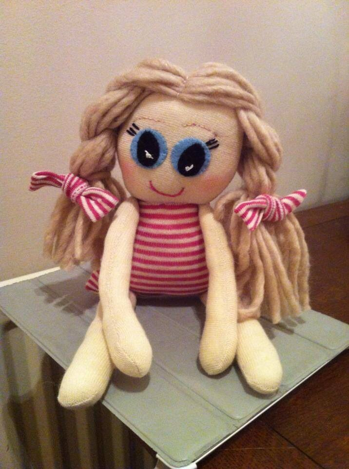 My very latest make a rag doll made from socks