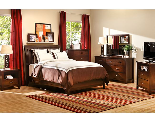 bedsmocha panel bedrich chocolate and espresso style