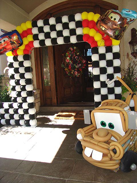Image detail for -balloon caricatures we did for this Disney themed Cars birthday ...