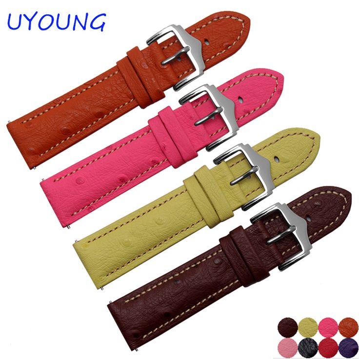 >> Click to Buy << Quality genuine leather watchband 22mm ostrich pattern replacement leather wristband quick release for ASUS Zen Watch 2 #Affiliate