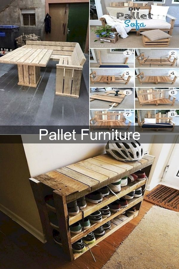 Pallet Wood Shelves Standard Pallet Size Pallet Patio Furniture Ideas In 2020 With Images Pallet Furniture Pallet Patio Furniture