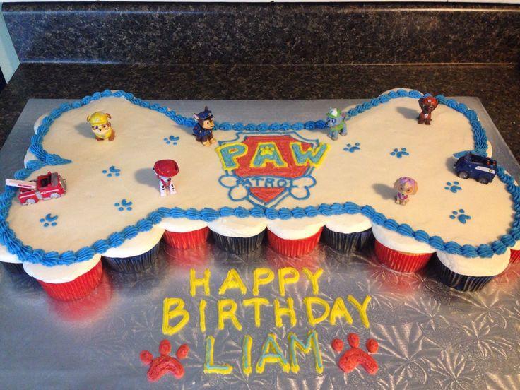 Paw Patrol cupcake cake!