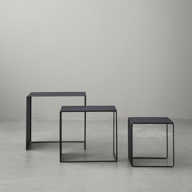 Set of 3 Cluster Tables, Black/FREE SHIPPING