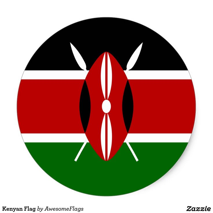 Kenya flag sticker national flag stickers pinterest kenya flag
