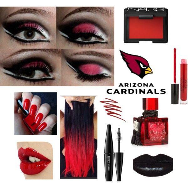 """Arizona Cardinals Game Face"" by arizonaladybirds on Polyvore"