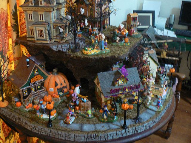 halloween village displays | My 2009 Halloween village display | Flickr - Photo Sharing!