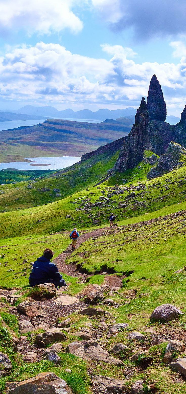 The Isle of Skye, the largest island in the Inner Hebrides, has gorgeous rolling hills and mountains. Scotland