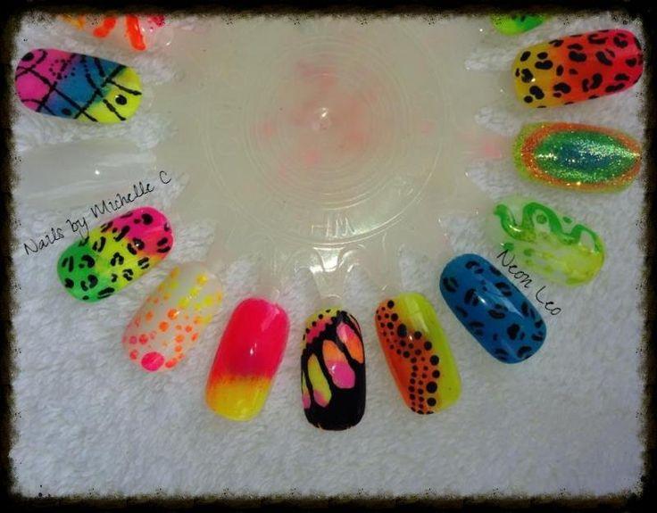 13 best Nail art- Neons images on Pinterest | Shellac, Shellac nails ...