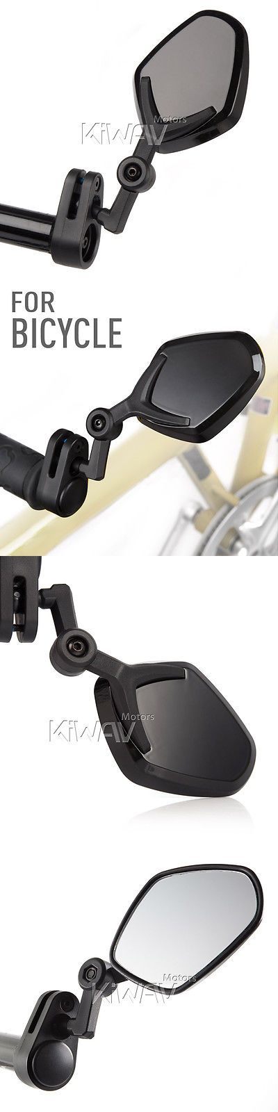 Mirrors 111264: Universal Bar End Adjustable Road Bike Cycling Safety Mirror Petal Glossy Black -> BUY IT NOW ONLY: $39 on eBay!