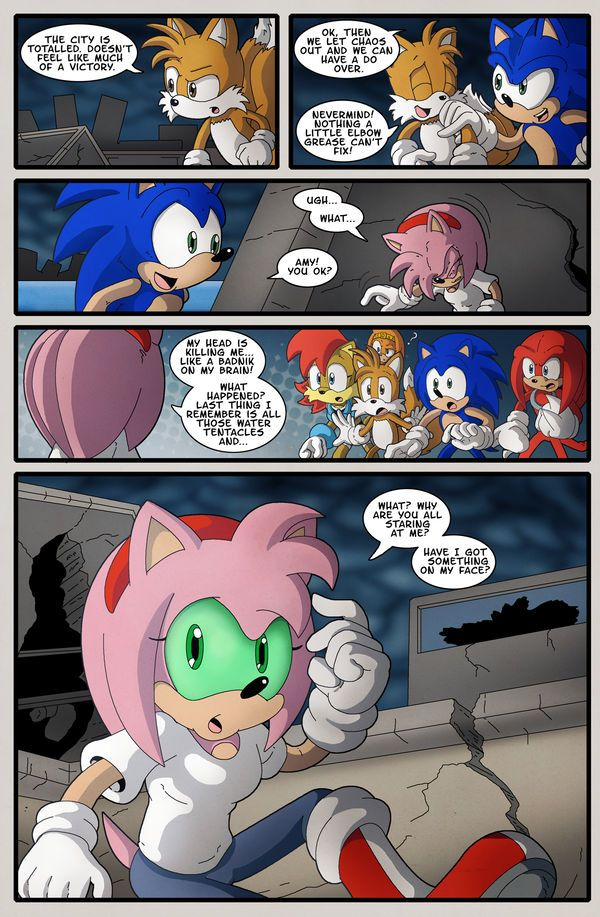 Pin by Amelia Rose on sonic comic | Sonic, Shadow the ...Amy And Sonic Wedding