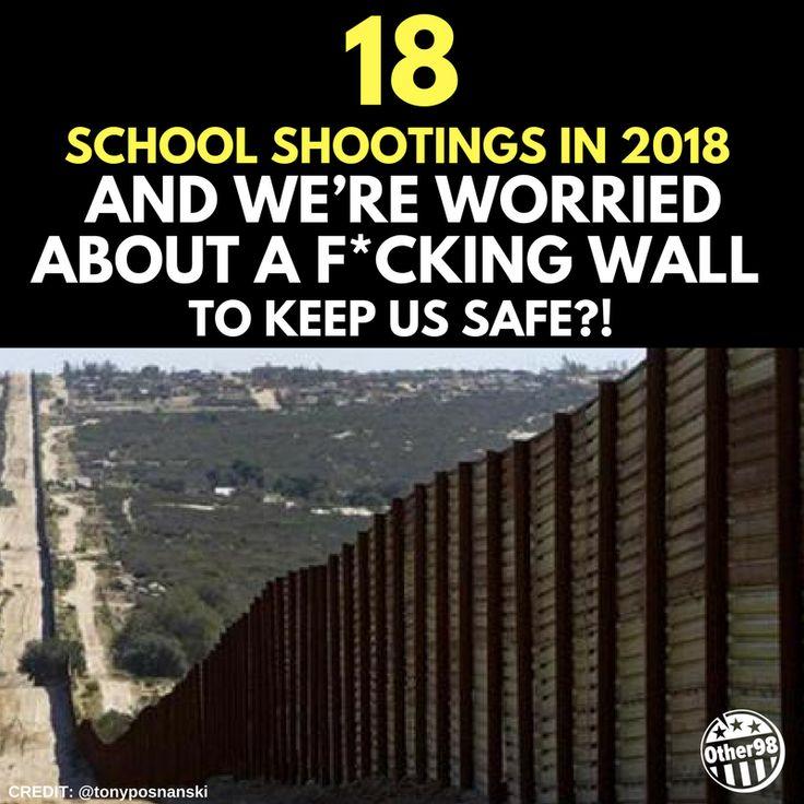 18 school shootings in THE FIRST SIX weeks of 2018!! Gun control NOW!! #WeCallBS