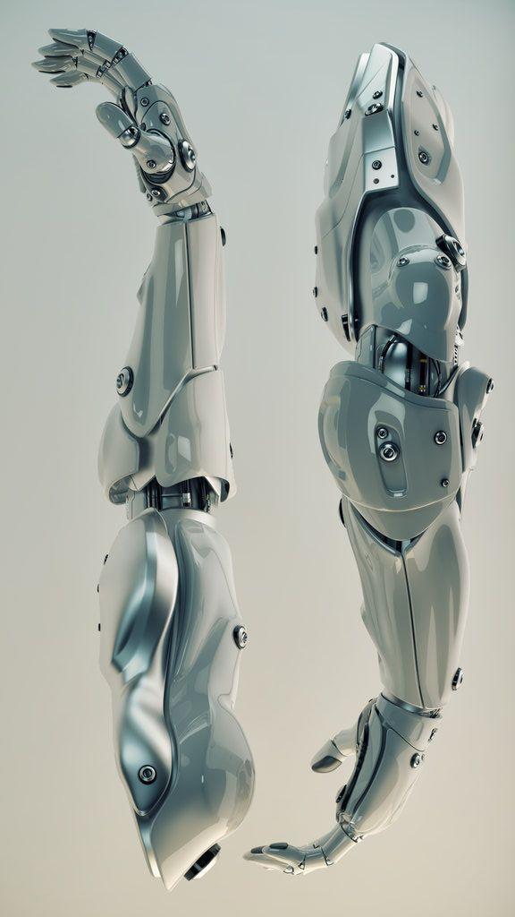 randomghost: Silver Brawny Cyber Arms by Vladislav Ociacia