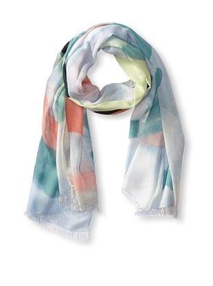 64% OFF Kenneth Jay Lane Women's Zoe Abstract Print Scarf, Jade Multi