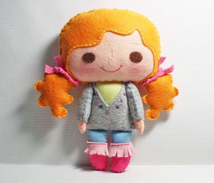 Bella Girl - PDF Doll Pattern