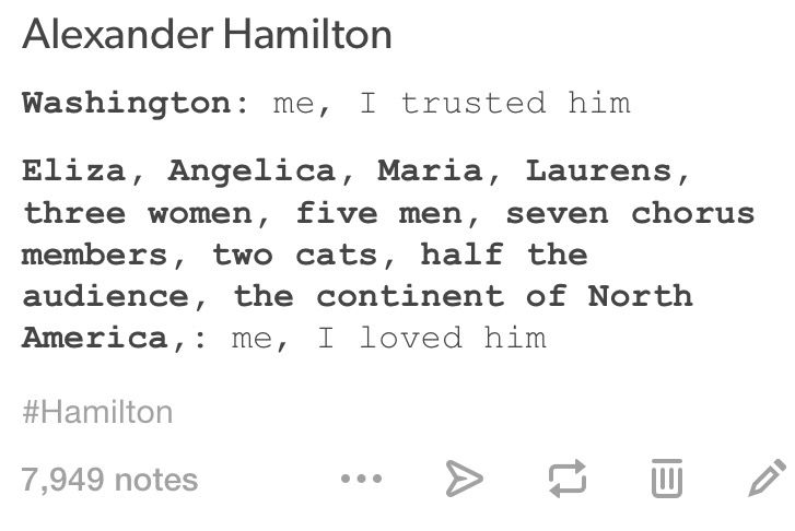 And you know Thomas Jefferson is screaming unflattering things at Lin-Manuel from the other side.